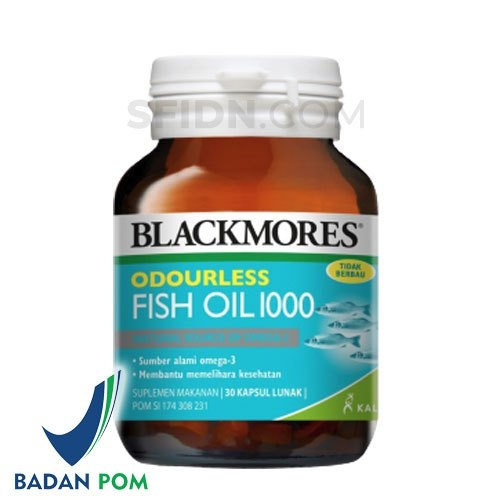 Blackmores Odourless fish oil 1000mg 30 softgels
