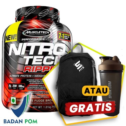 MUSCLETECH NITROTECH RIPPED 4 LBS