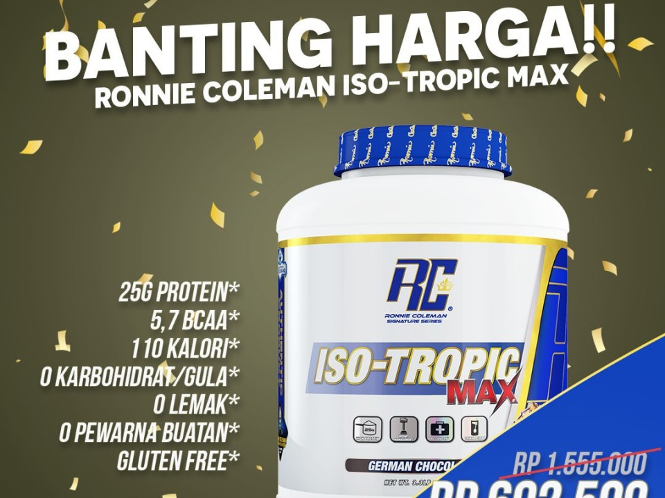 Promo Banting Harga Ronnie Coleman Iso Tropic