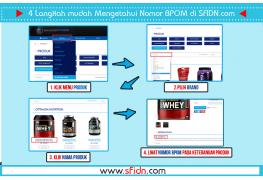 Cara Melihat Nomor BPOM Produk Suplemen Fitness SFIDN