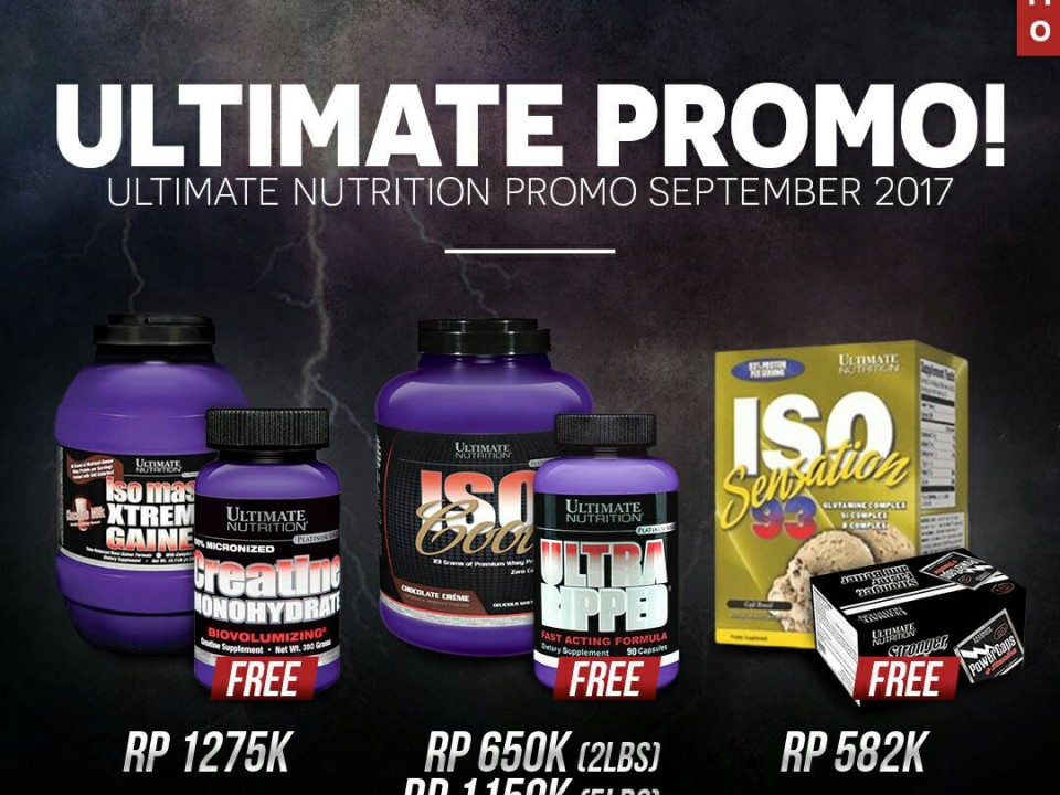 Promo Ultimate Nutrition September 2017
