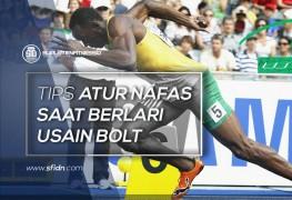 Tips Usain Bolt Atur Nafas Saat Berlari